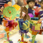 Our preschool students learn with creativity and art