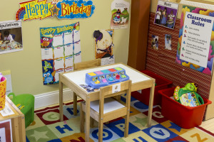 Preschool Classrooms are designed to maximixe learning potential of children