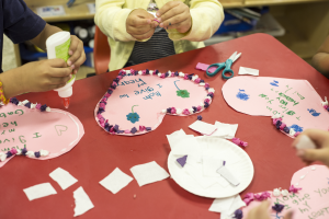 Our preschool kids make fun arts and crafts